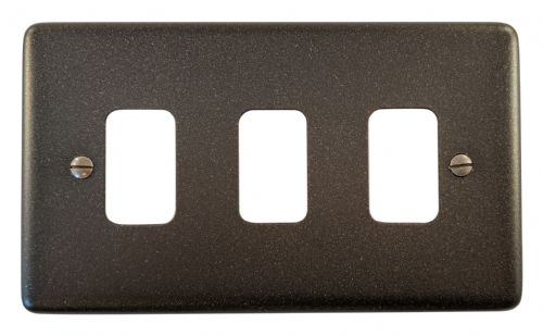 G&H CG93 Standard Plate Graphite 3 Gang MK Compatible Grid Plate